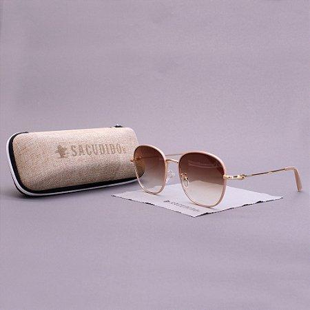 Óculos Sacudido´s - Trapézio Metal - Ouro- Rosê