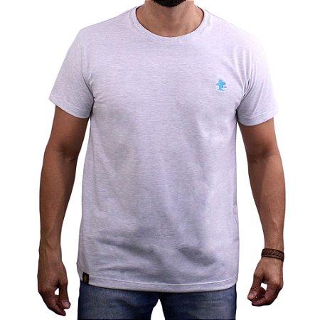 Camiseta Sacudido's - Básica - Mescla Claro-Azul