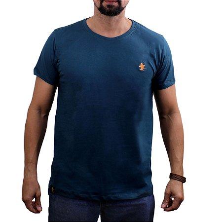 Camiseta Sacudido's - Básica - Musgo-Laranja