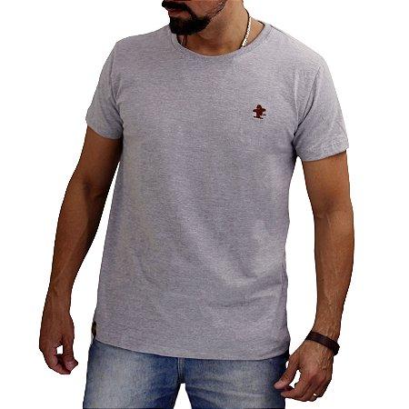 Camiseta Sacudido's - Básica - Chumbo e Marrom