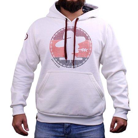 Moletom Sacudido´s - Logo Redonda - Off White