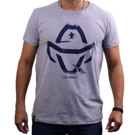 Camiseta Sacudido's - Logo - Mescla Claro