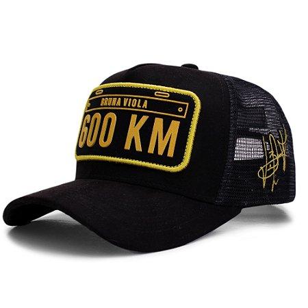 Boné Sacudido's - Preto 600 KM - Bruna Viola