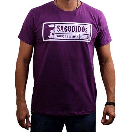 Camiseta Sacudido's - Etiqueta - Roxo