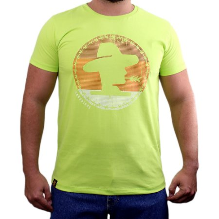 Camiseta Sacudido's - Logo Color - Verde Radical