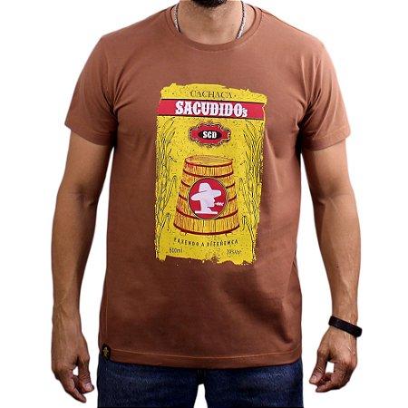 Camiseta Sacudido's - Cachaça - Marrom