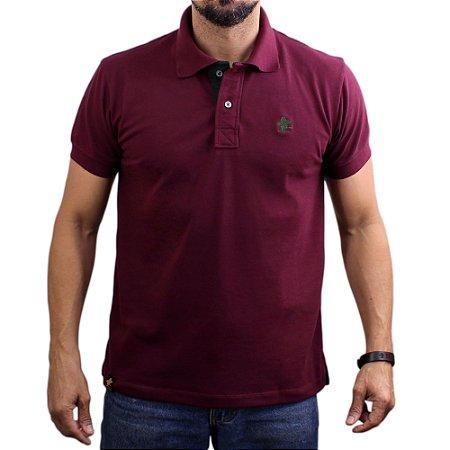 Camiseta Polo Sacudido's - Vinho-Verde