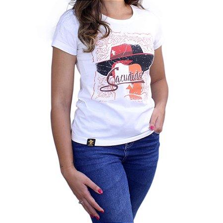 Camiseta Sacudido's Feminina - Chapéu - Marfim