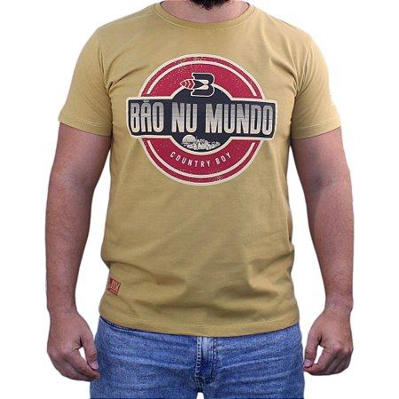 Camiseta Bão Nu Mundo - Country Boy - Trigo