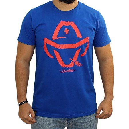 Camiseta Sacudido's - Logo Estilizado - Azul Real