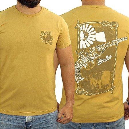 Camiseta BÃO NU MUNDO - Carroça - Trigo