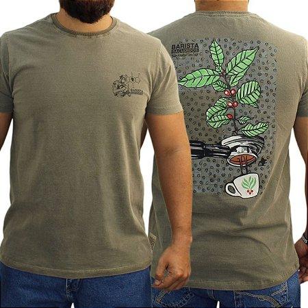 Camiseta Sacudido's Estonada - Barista - Marrom