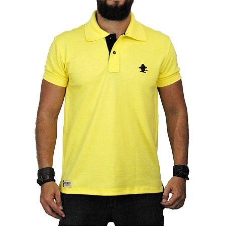 95b6d081a3 Camiseta Gola Polo Amarela Sacudido s - Sacudidos