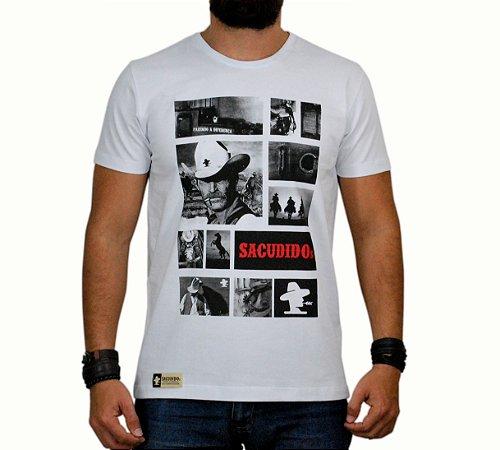 Camiseta Sacudido's - Fotos - Branca