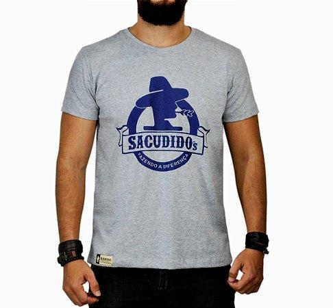 Camiseta Sacudido s Logo Redondo - Cinza Mescla - Sacudidos 427f445fb7725
