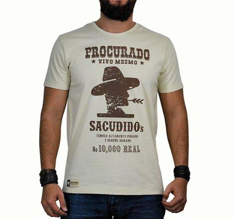 Camiseta Sacudido's Procurado - Areia