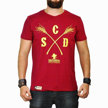 Camiseta Sacudido's - Capim - Vinho