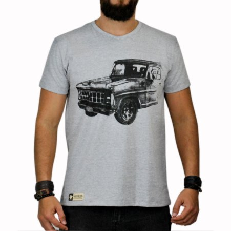 Camiseta Sacudido's - F1000 Bruta - Cinza Mescla