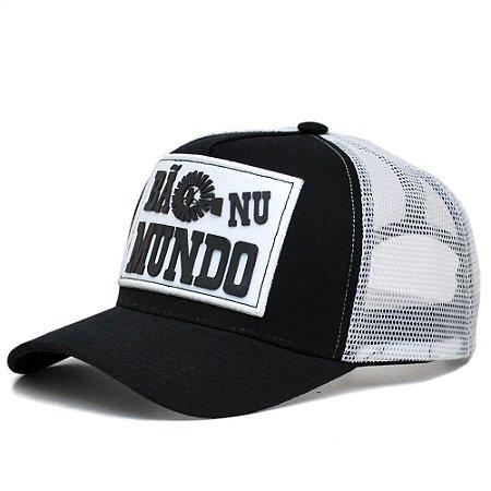 Boné Bão  Nu Mundo -  Preto e Branco BNM