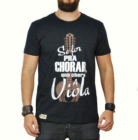 Camiseta Sacudido's Chora Viola Preta