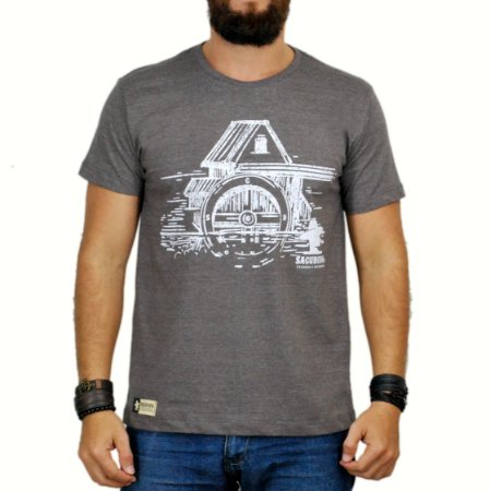 Camiseta Sacudido's  Celeiro Marrom