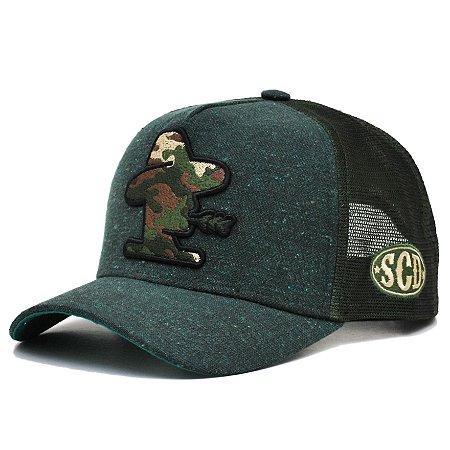 Boné Sacudido´s - Bordado Camuflado - Militar