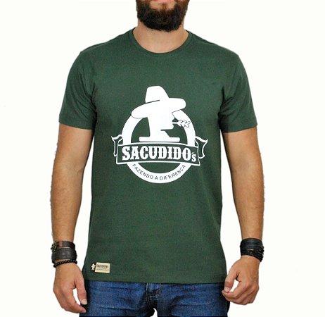 Camiseta Sacudido's Logo Redondo - Verde