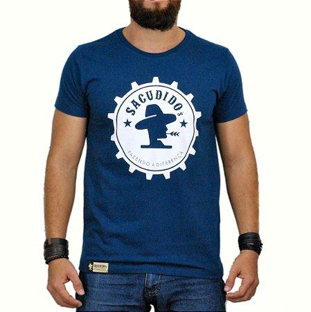 Camiseta Sacudido's Engrenagem Azul Marinho