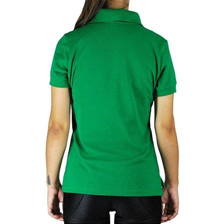 Camiseta Polo Feminina Sacudido's - Verde e Vinho