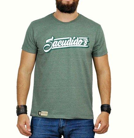 Camiseta Sacudido´s - Assinatura - Verde Mescla