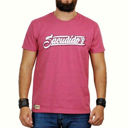 Camiseta Sacudido´s Assinatura Cereja Mescla