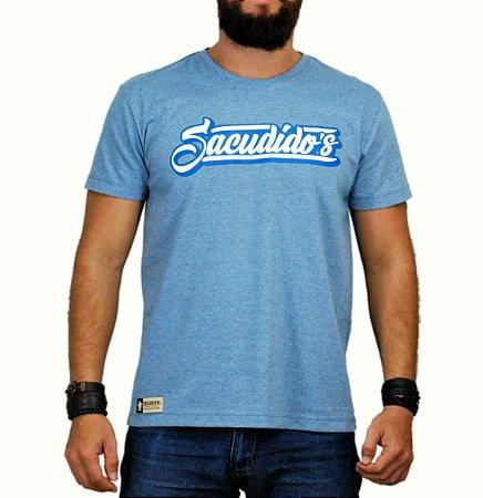 Camiseta Sacudido´s - Assinatura - Azul Mescla