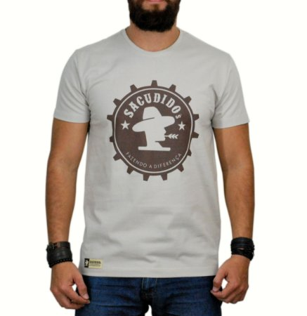 Camiseta Sacudido's - Engrenagem - Bege