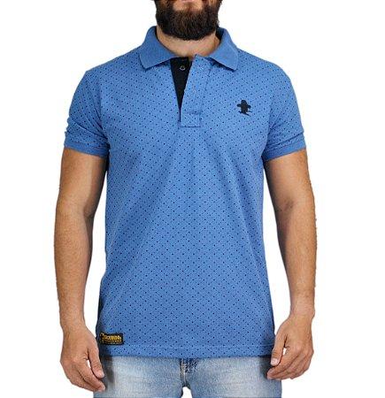 Camiseta Polo Granfino Sacudido s - Azul - Sacudidos 9303095e33500