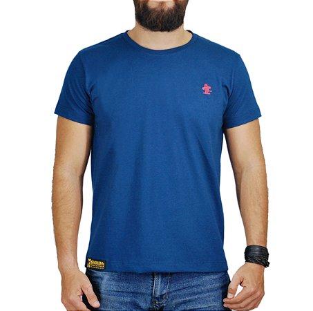 Camiseta Sacudido's Básica - Azul Marinho e Vinho