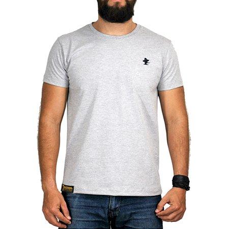 Camiseta Sacudido's - Básica - Cinza e Verde Musgo