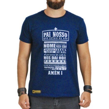 Camiseta Sacudido's - Oração - Azul Marinho