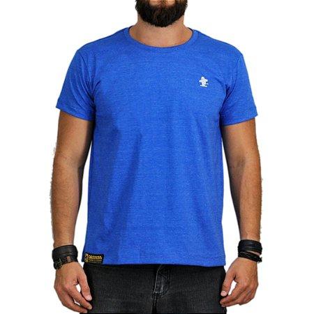 Camiseta Sacudido's Básica - Azul Mescla