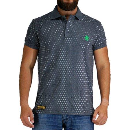 Camiseta Polo Granfino Sacudido's - Chumbo Gola Chumbo