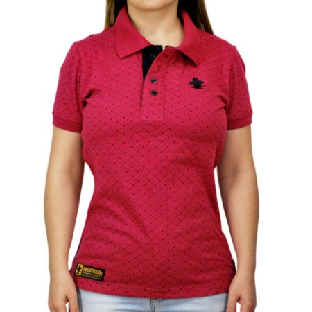 Camiseta Polo Feminina Sacudido's Elastano - Vinho