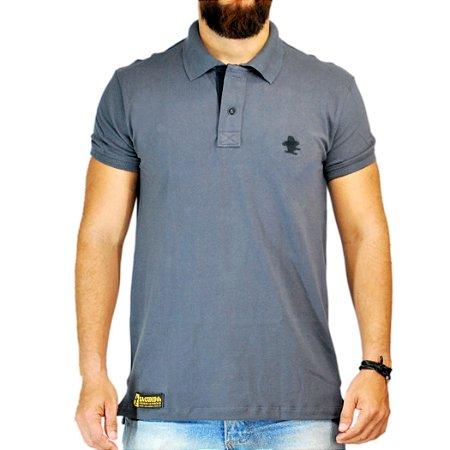 Camiseta Polo Granfino Lisa Sacudido s - Chumbo - Sacudidos a1bcf3c8bfabb