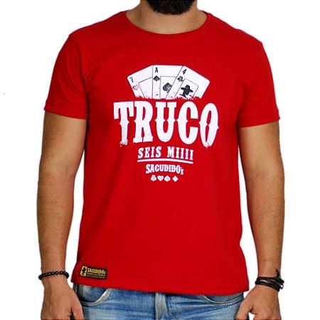 Camiseta Sacudido's - Truco - Vermelho