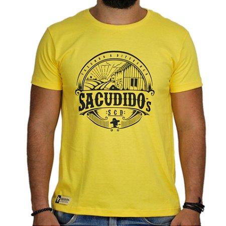 Camiseta Sacudido's Paisagem - Amarelo e Azul
