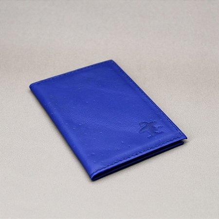 Porta Cartão Sacudido's - Napa Azul Royal
