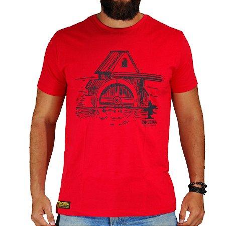 Camiseta Sacudido's - Celeiro - Vermelho