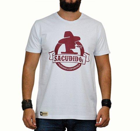 Camiseta Sacudido's - Logo Redondo - Branca
