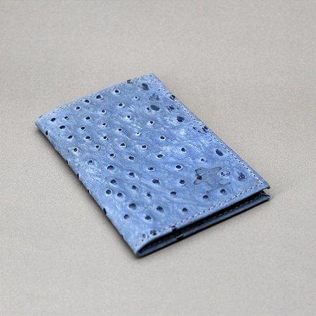 Porta Cartão Sacudido's - Azul Estampa Avestruz