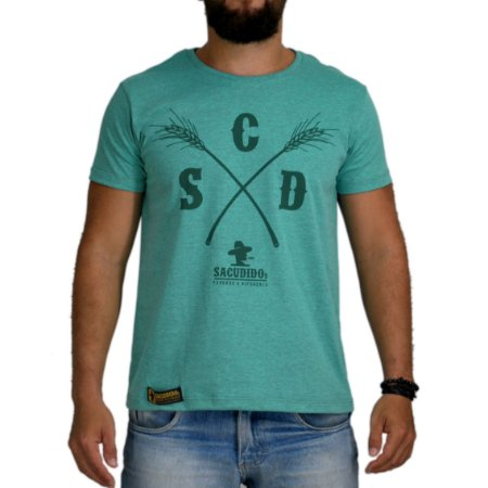 Camiseta Sacudido's Capim Verde Mescla