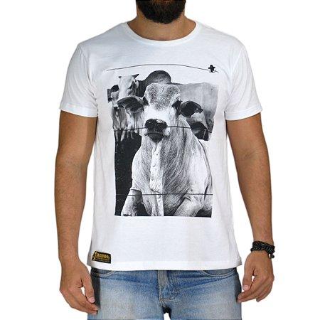 Camiseta Sacudido's Nelore Branca