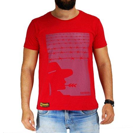 Camiseta Sacudido's - Arame - Vermelha